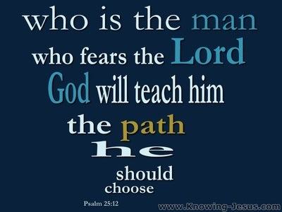 Psalm 25:12 He Who Fears God (blue)